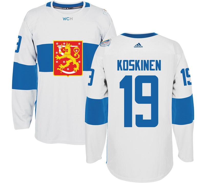 Finland 19 Mikko Koskinen White 2016 World Cup Of Hockey Premier Player Jersey