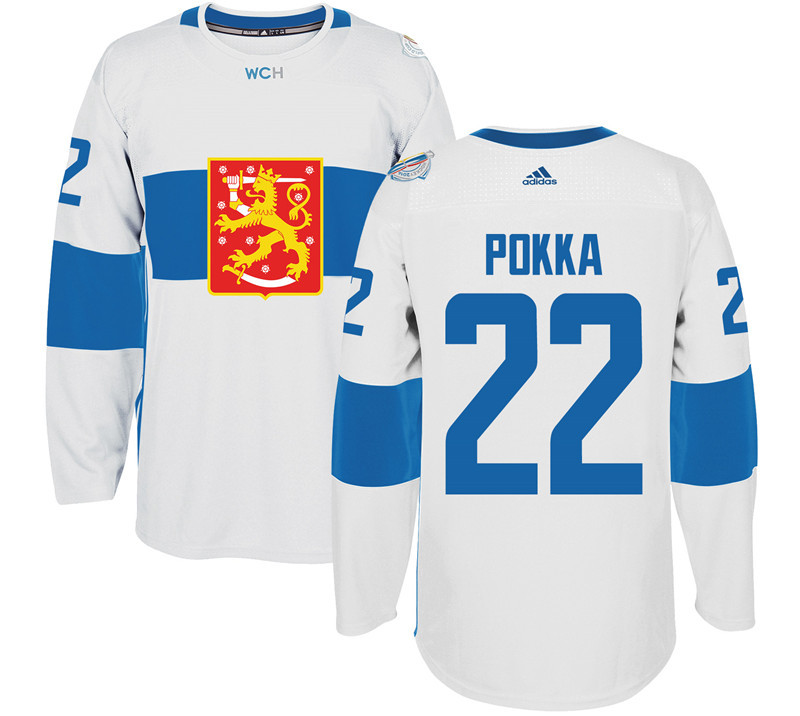 Finland 22 Ville Pokka White 2016 World Cup Of Hockey Premier Player Jersey