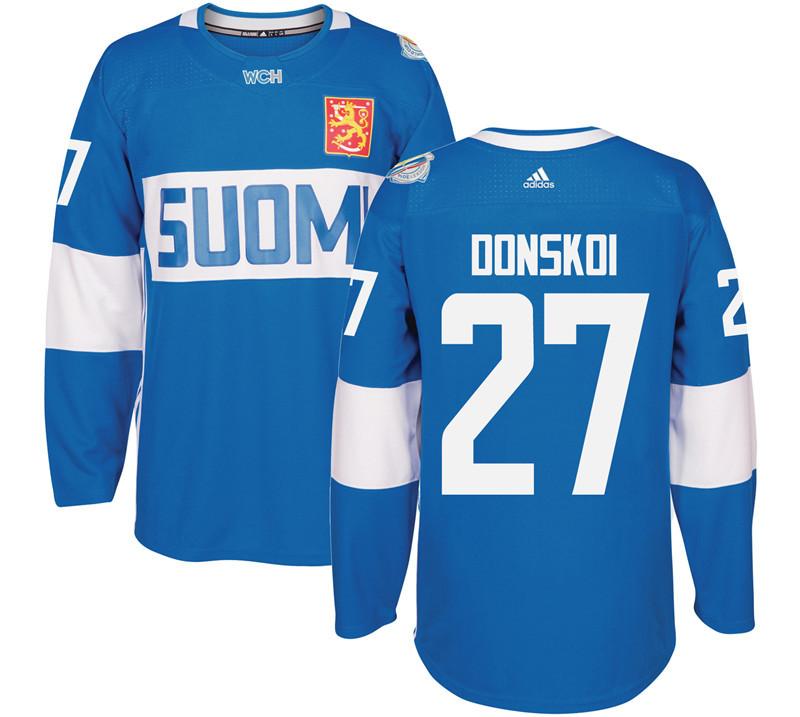 Finland 27 Joonas Donskoi Blue 2016 World Cup Of Hockey Premier Player Jersey