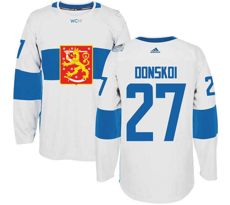 Finland 27 Joonas Donskoi White 2016 World Cup Of Hockey Premier Player Jersey