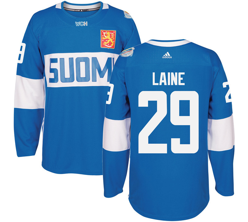 Finland 29 Patrik Laine Blue 2016 World Cup Of Hockey Premier Player Jersey