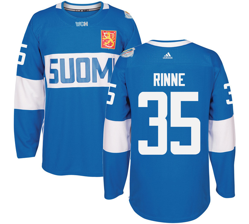 Finland 35 Pekka Rinne Blue 2016 World Cup Of Hockey Premier Player Jersey