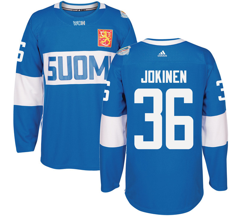 Finland 36 Olli Jokinen Blue 2016 World Cup Of Hockey Premier Player Jersey
