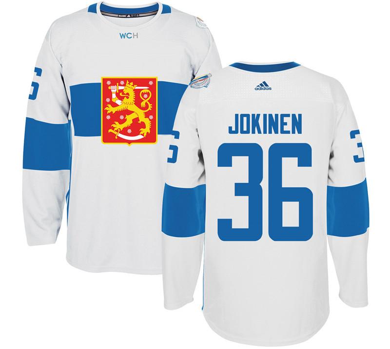 Finland 36 Olli Jokinen White 2016 World Cup Of Hockey Premier Player Jersey