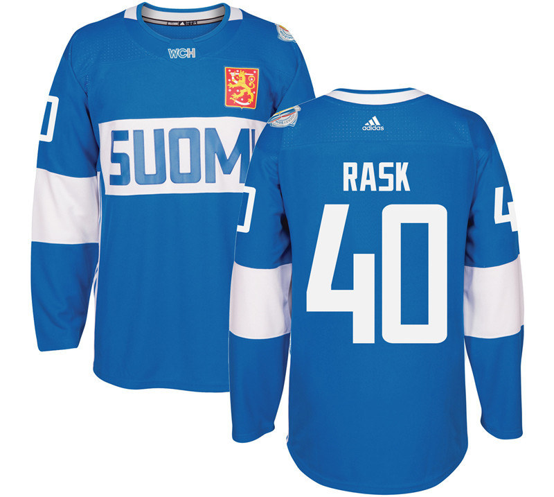 Finland 40 Tuukka Rask Blue 2016 World Cup Of Hockey Premier Player Jersey