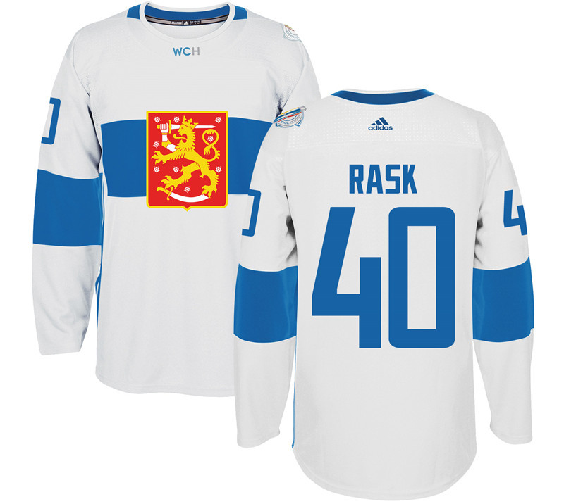 Finland 40 Tuukka Rask White 2016 World Cup Of Hockey Premier Player Jersey