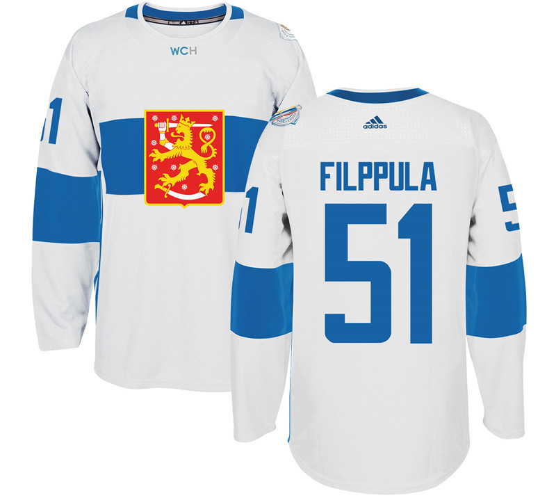 Finland 51 Valtteri Filppula White 2016 World Cup Of Hockey Premier Player Jersey