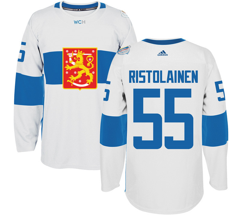 Finland 55 Rasmus Ristolainen White 2016 World Cup Of Hockey Premier Player Jersey