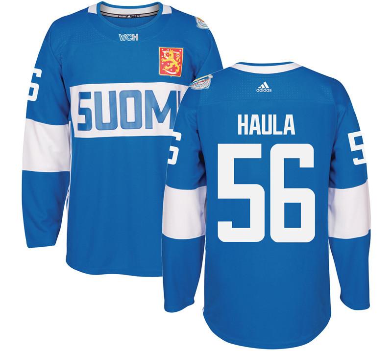 Finland 56 Erik Haula Blue 2016 World Cup Of Hockey Premier Player Jersey