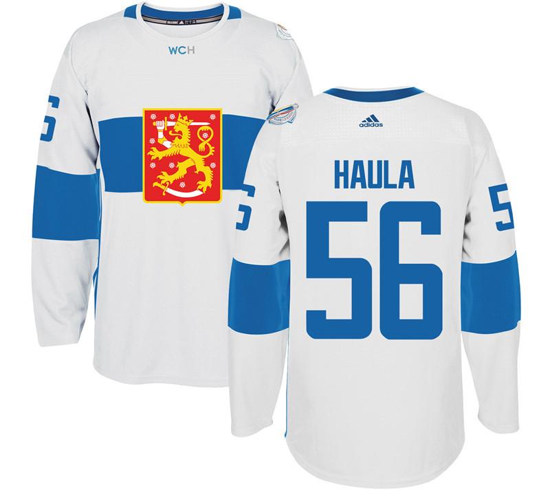 Finland 56 Erik Haula White 2016 World Cup Of Hockey Premier Player Jersey