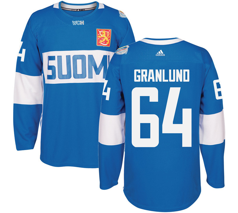 Finland 64 Mikael Granlund Blue 2016 World Cup Of Hockey Premier Player Jersey