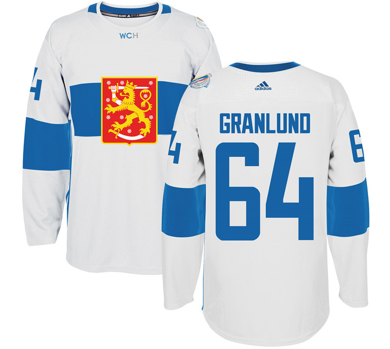 Finland 64 Mikael Granlund White 2016 World Cup Of Hockey Premier Player Jersey