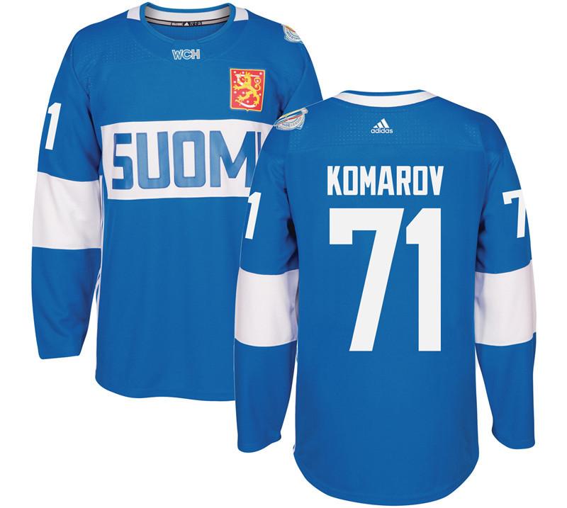 Finland 71 Leo Komarov Blue 2016 World Cup Of Hockey Premier Player Jersey