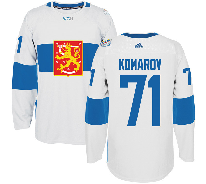 Finland 71 Leo Komarov White 2016 World Cup Of Hockey Premier Player Jersey