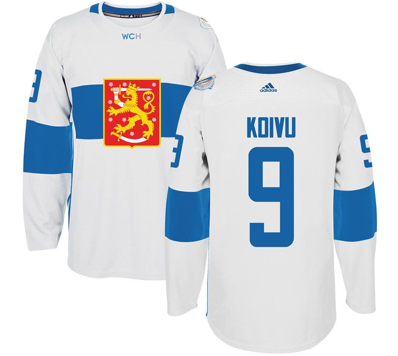 Finland 9 Mikko Koivu White 2016 World Cup Of Hockey Premier Player Jersey
