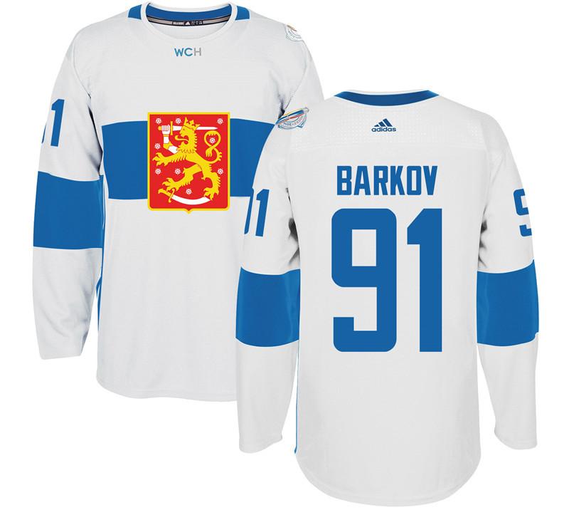 Finland 91 Aleksander Barkov White 2016 World Cup Of Hockey Premier Player Jersey