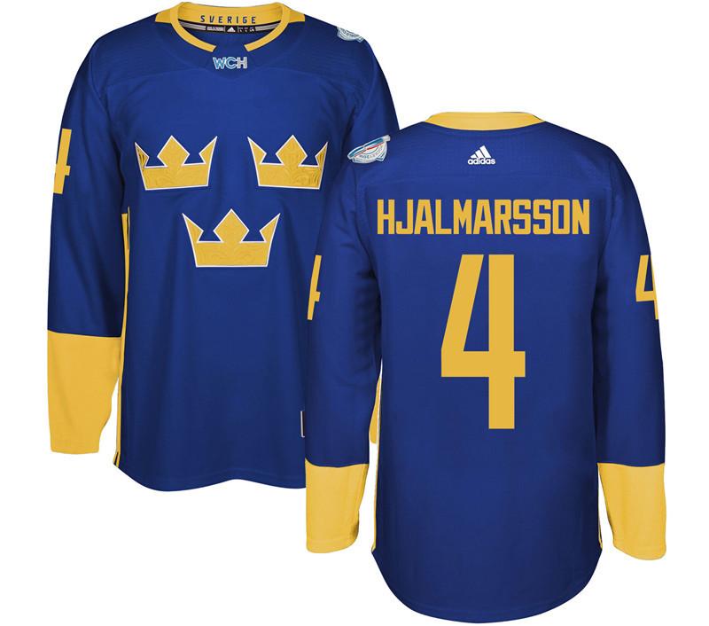 Sweden 4 Niklas Hjalmarsson Purple 2016 World Cup Of Hockey Premier Player Jersey