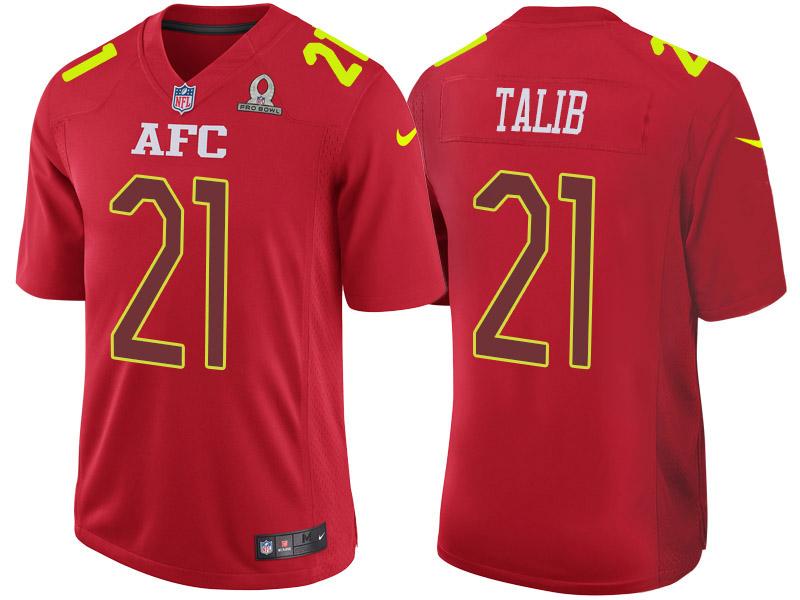 Nike Broncos 21 Aqib Talib Red 2017 Pro Bowl Game Jersey