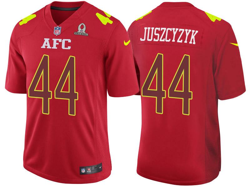 Nike Ravens 44 Kyle Juszcyzyk Red 2017 Pro Bowl Game Jersey