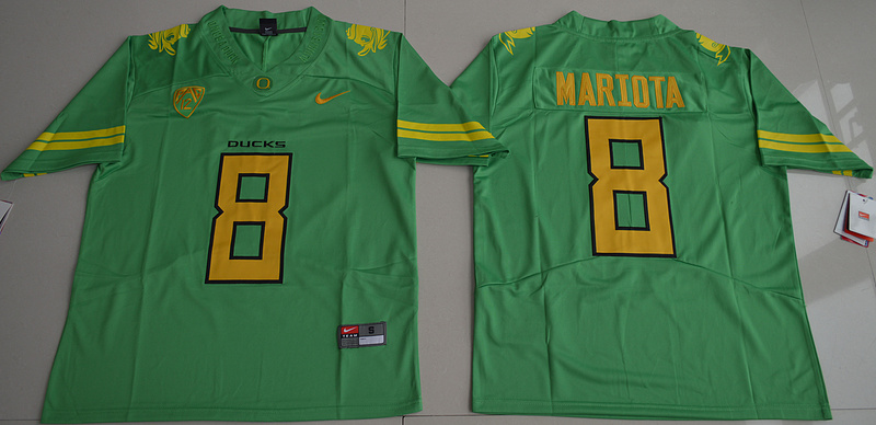 Oregon Ducks 8 Marcus Mariota Green Nike College Jersey