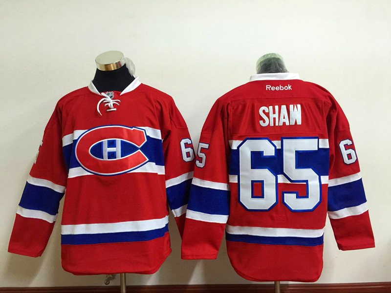 Canadiens 65 Andrew Shaw Red Reebok Jersey