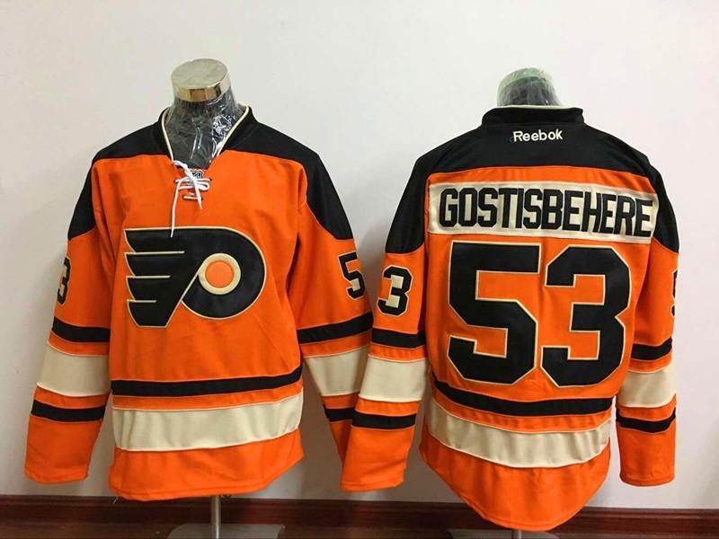 Flyers 53 Shayne Gostisbehere Orange Reebok Jersey