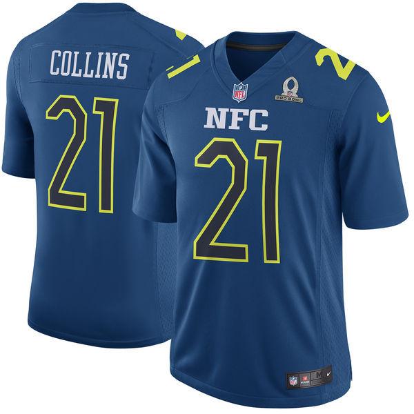 Nike Giants 21 Landon Collins Navy 2017 Pro Bowl Game Jersey