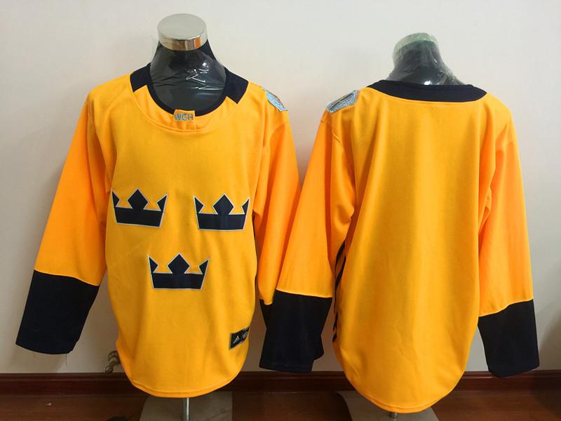 Sweden Blank Gold Hockey Premier Player Jersey