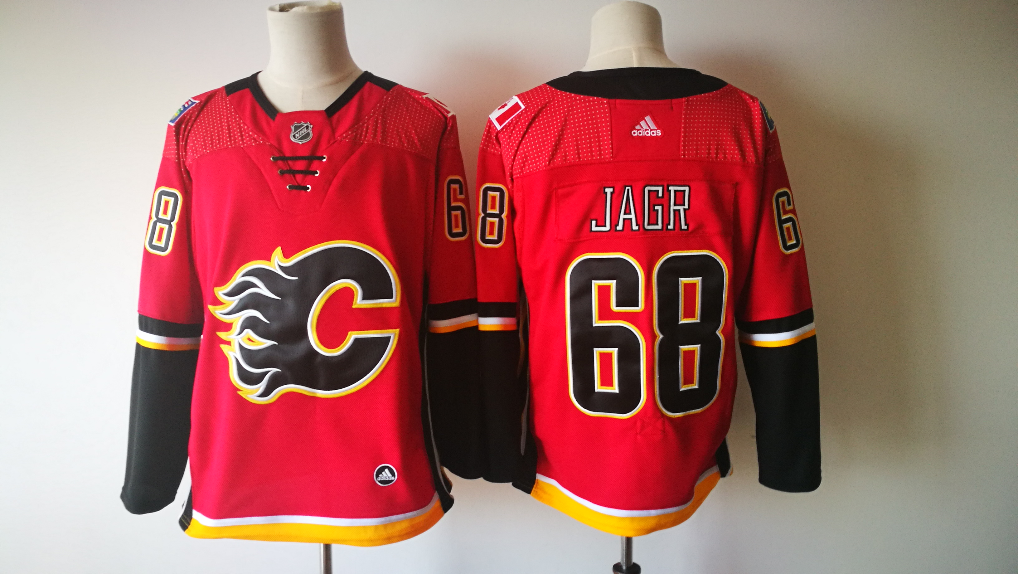 Flames 68 Jaromir Jagr Red Adidas Jersey