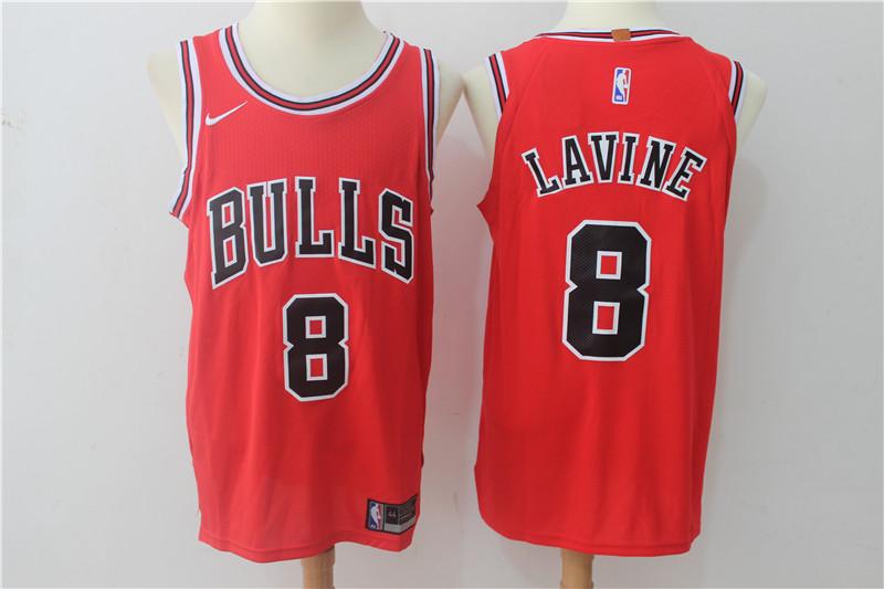 Bulls 8 Zach Lavine Red Nike Authentic Jersey