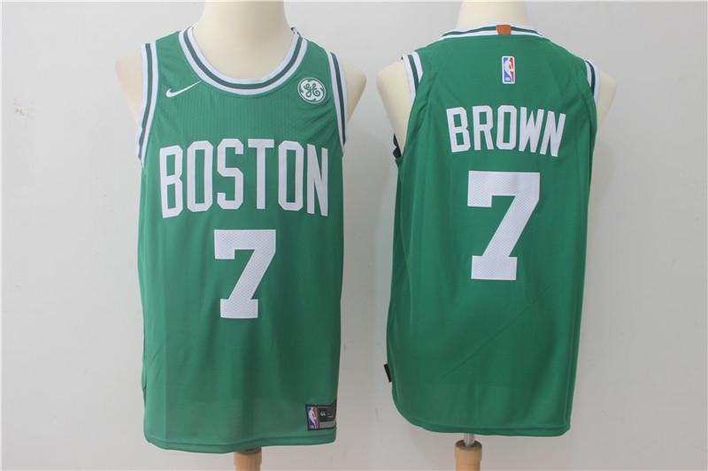 Celtics 7 Jaylen Brown Green Nike Authentic Jersey
