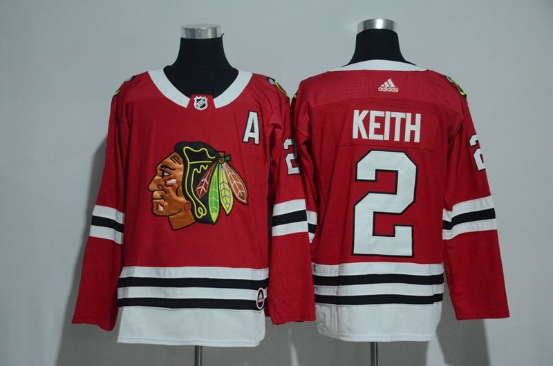 Blackhawks 2 Duncan Keith Red Adidas Jersey