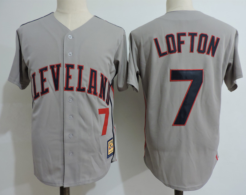 Indians 7 Kenny Lofton Gray Cooperstown Collection Throwback Jersey