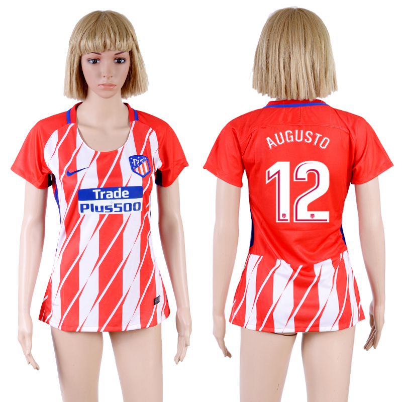 2017-18 Atletico Madrid 12 AUGUSTO Home Women Soccer Jersey
