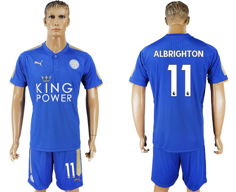 2017-18 Leicester City 11 ALBRIGHTON Home Soccer Jersey