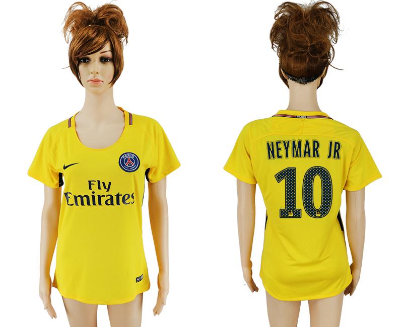 2017-18 Paris Saint-Germain 10 NEYMAR JR Away Women Thailand Soccer Jersey