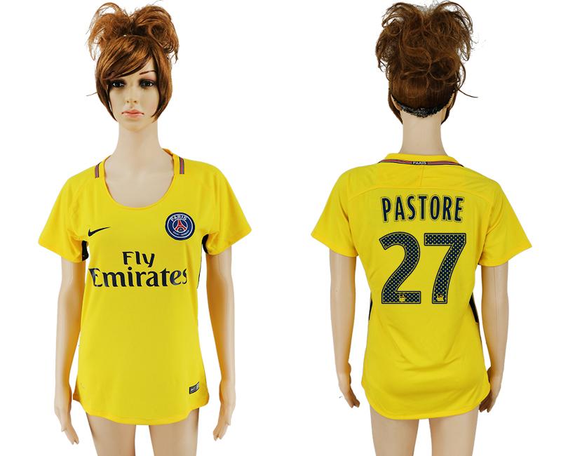 2017-18 Paris Saint-Germain 27 PASTORE Away Women Thailand Soccer Jersey