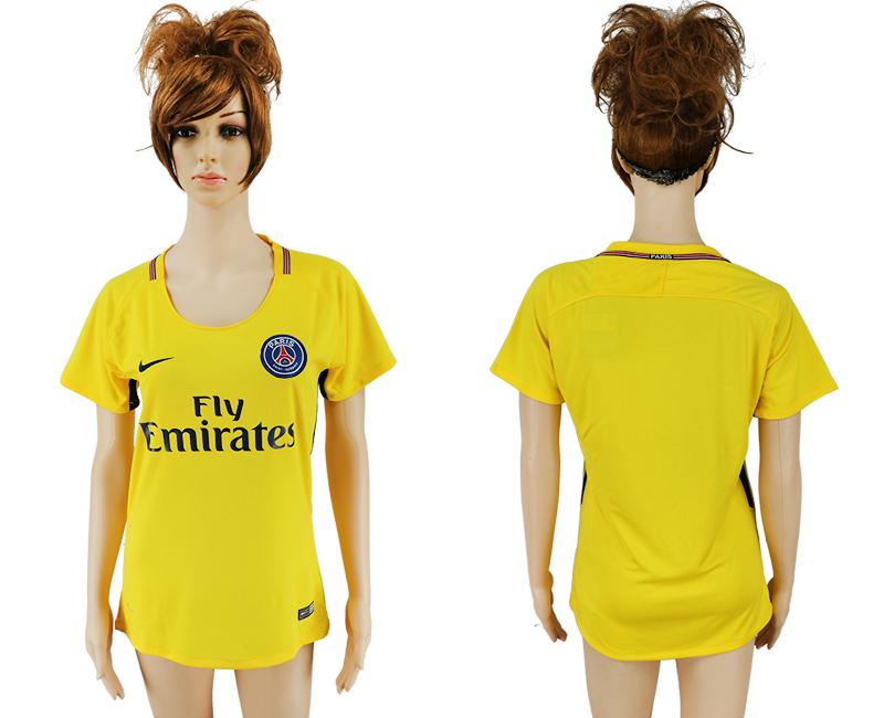 2017-18 Paris Saint-Germain Away Women Thailand Soccer Jersey