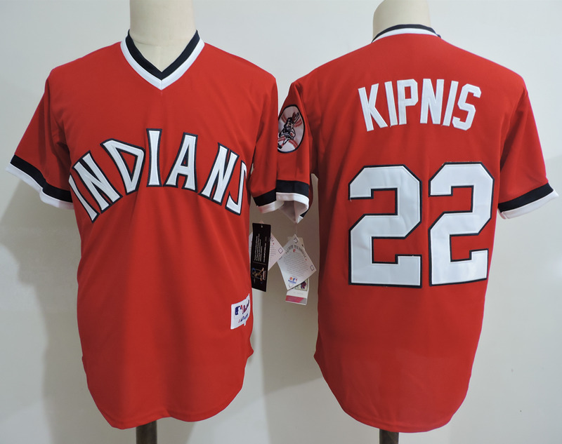 Indians 22 Jason Kipnis Red Cooperstown Collection Throwback Jersey