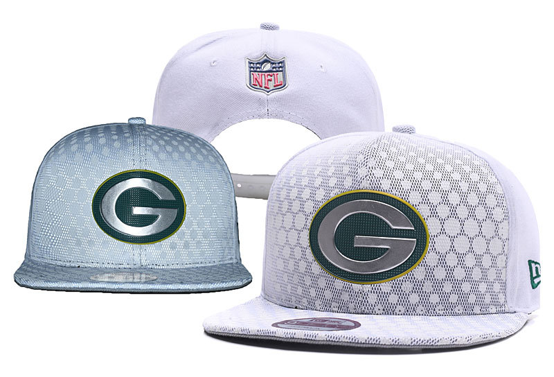Packers Team Logo White Reflective Snapback Adjustable Hat YD