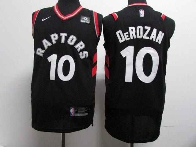 Raptors 10 DeMar DeRozan Black Nike Authentic Jersey