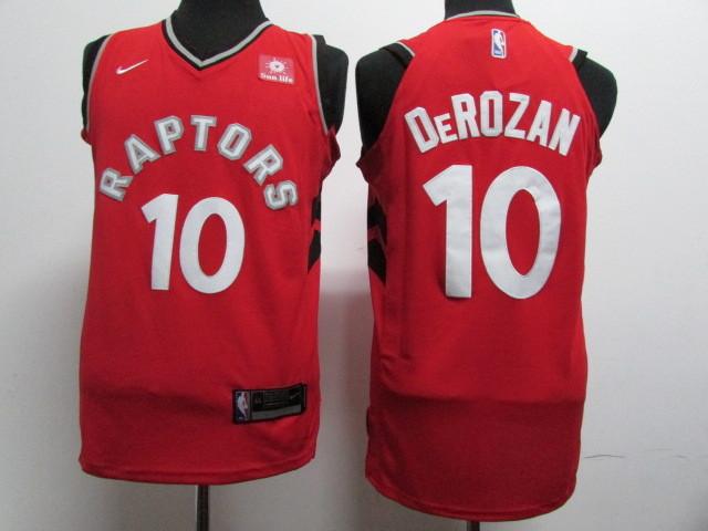 Raptors 10 DeMar DeRozan Red Nike Authentic Jersey