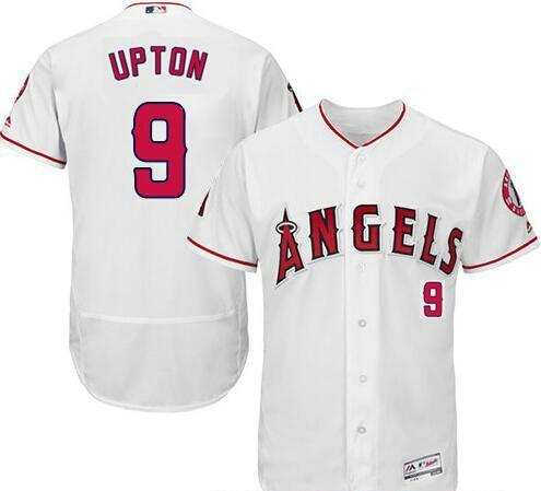 Angels 9 Justin Upton White Flexbase Jersey