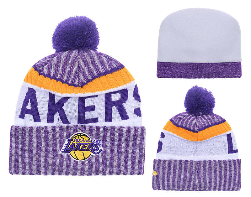 Lakers Team Logo Knit Hat YD