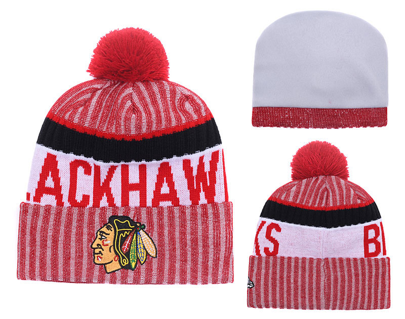 Blackhawks Team Logo Knit Hat YD