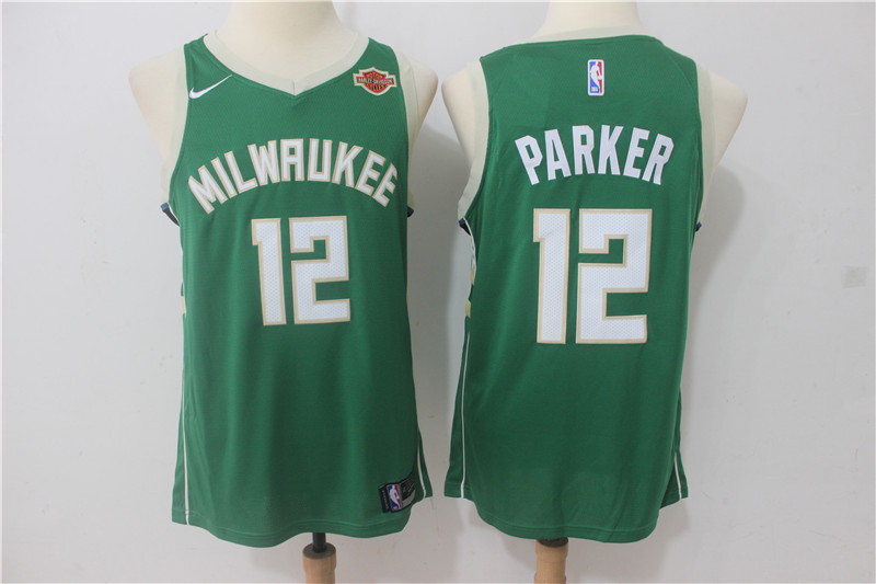 Bucks 12 Jabari Parker Green Nike Swingman Jersey