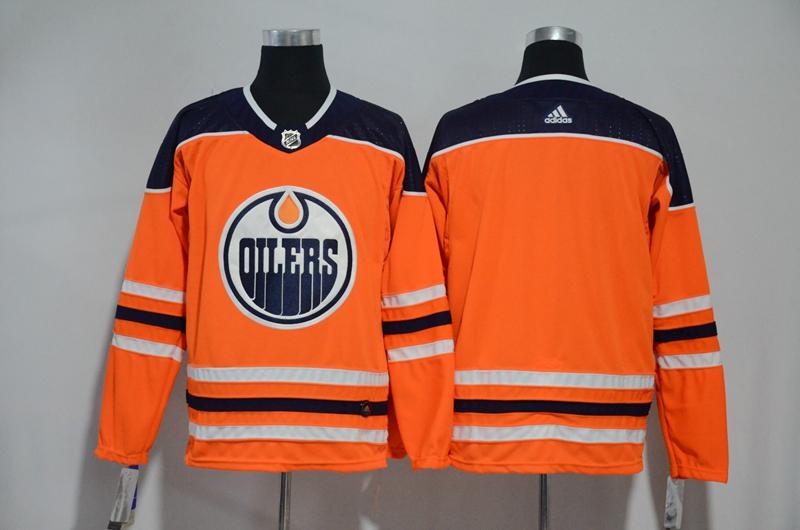 Oilers Blank Orange Adidas Jersey