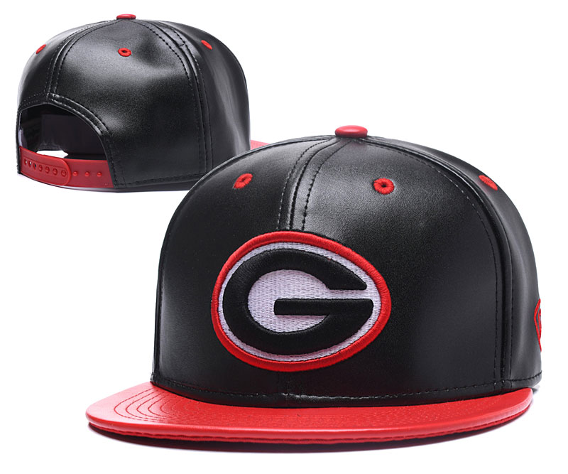 Packers Big Logo Black Snapback Adjustable Hat GS