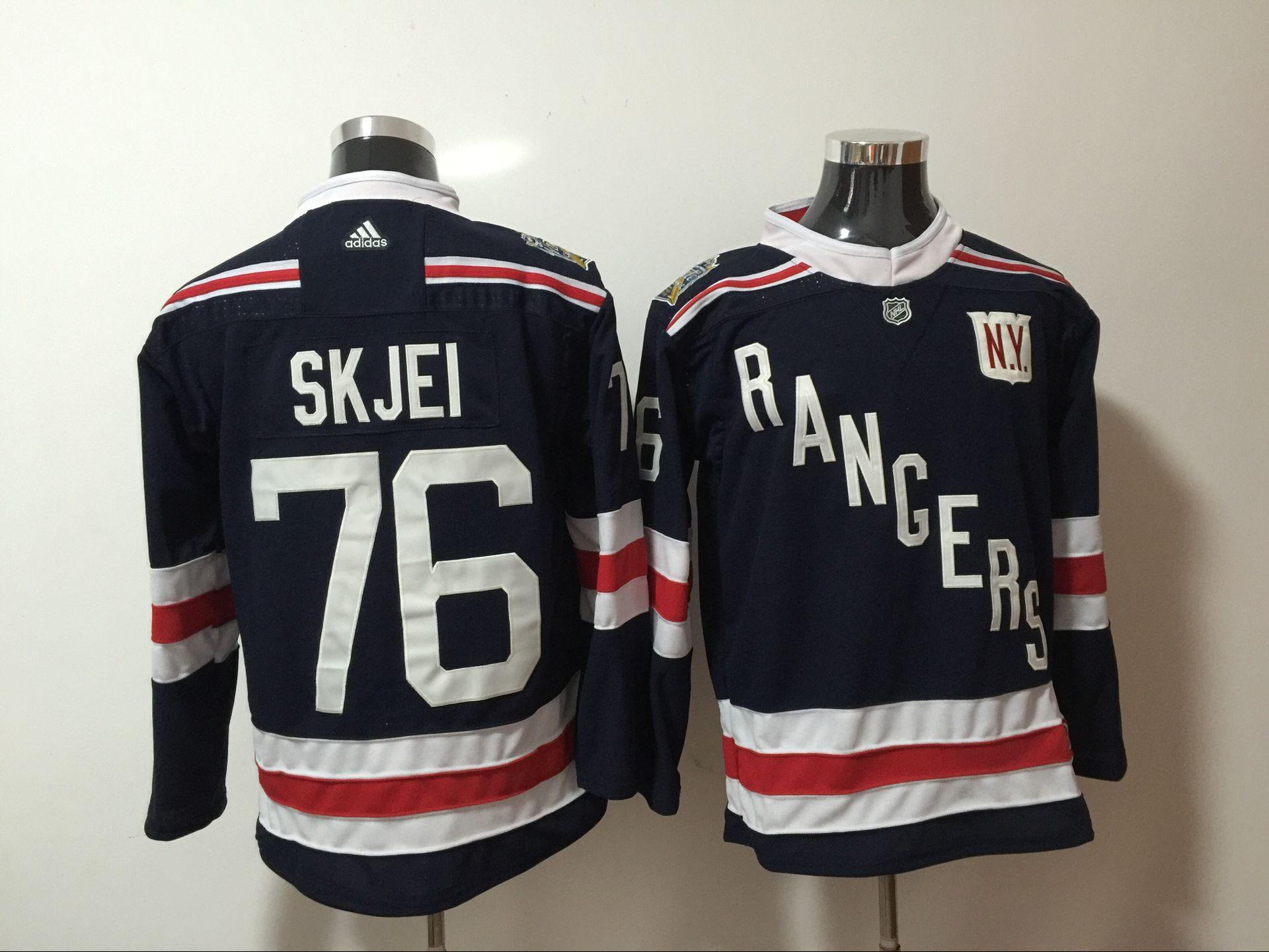 Rangers 76 Brady Skjei Navy Adidas Jersey