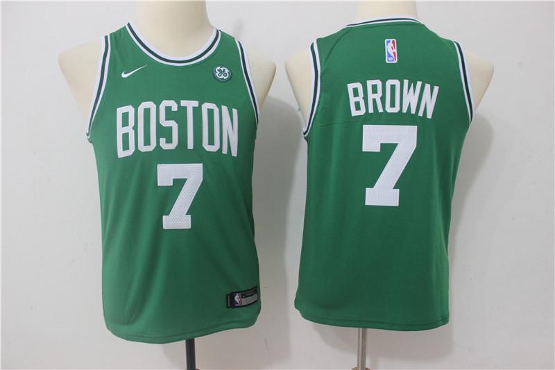 Celtics 7 Jaylen Brown Green Youth Nike Swingman Jersey